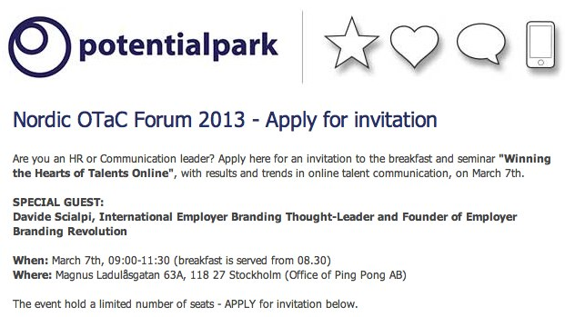 Employer Branding Revolution - Potential Park